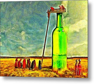 Water Source  - Van Gogh Style -  - Da Metal Print by Leonardo Digenio