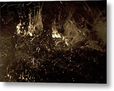 Water Splashing Metal Print