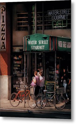 Water St Gourmet Deli  Metal Print by Mike Savad