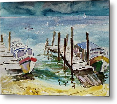 Water Taxis Metal Print by Xueling Zou