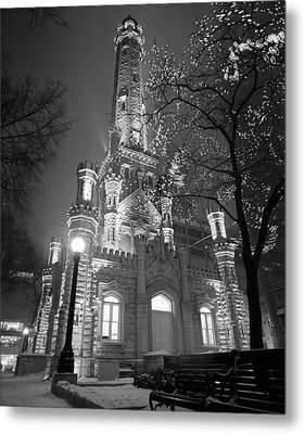 Water Tower Chicago Il Metal Print