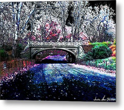 Metal Print featuring the photograph Water Under The Bridge by Iowan Stone-Flowers
