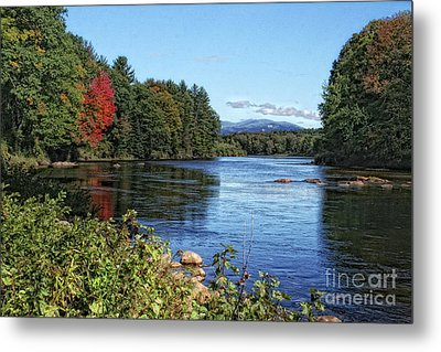 Metal Print featuring the photograph Water View In New Hampshire by Gina Cormier