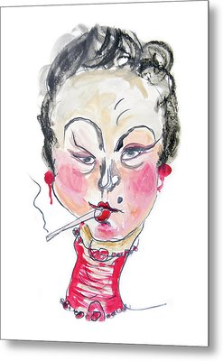 The Smoker Metal Print by Marian Voicu