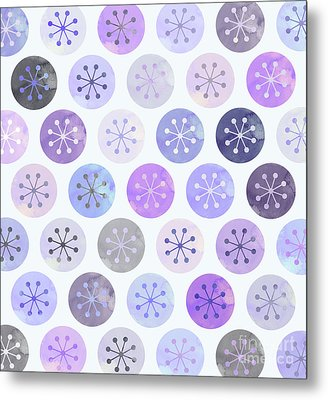Watercolor Lovely Pattern II Metal Print