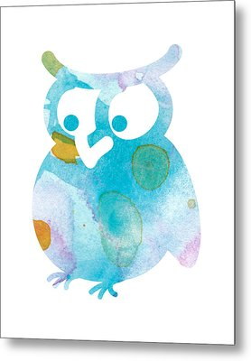 Watercolor Owl Metal Print