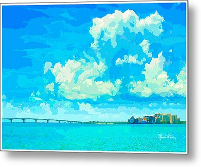 Watercolor Spring On Sarasota Bay Metal Print