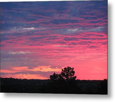 Watercolor Sunset Metal Print by Jerry Browning