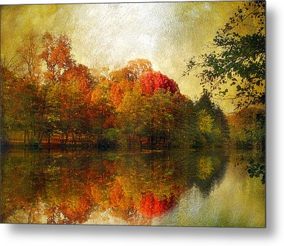 Watercolor Sunset Metal Print by Jessica Jenney