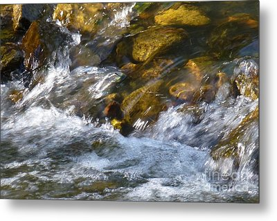 Metal Print featuring the photograph Watercourse by Jean Bernard Roussilhe