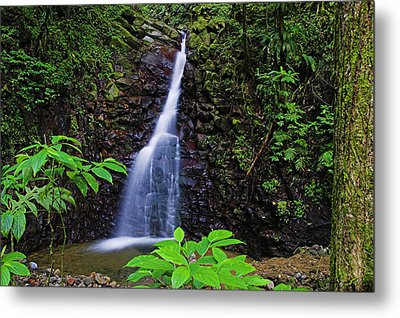 Waterfall-1-st Lucia Metal Print