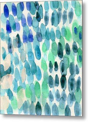Waterfall 2- Abstract Art By Linda Woods Metal Print by Linda Woods