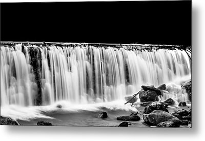 Waterfall At Night Metal Print