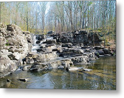 Metal Print featuring the photograph Waterfall At Wickecheoke Creek by Bill Cannon