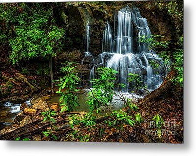 Metal Print featuring the photograph Waterfall On Back Fork by Thomas R Fletcher
