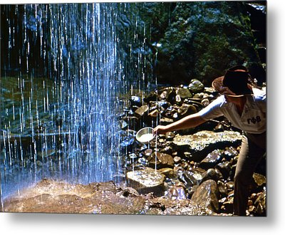 Metal Print featuring the photograph Waterfall Panner by Lori Miller