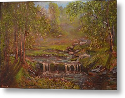 Waterfall Paridise Metal Print