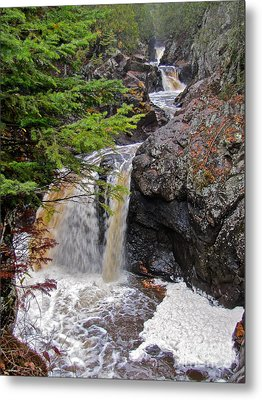 Waterfall Study 1 Metal Print by Tracy Wright