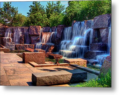 Waterfalls Fdr Memorial Metal Print