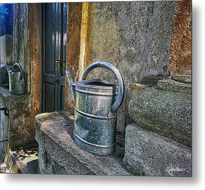 Watering Cans Metal Print by Diana Haronis