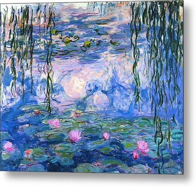 Metal Print featuring the painting Waterlilies 1919  by Claude Monet