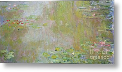 Waterlilies At Giverny Metal Print by Claude Monet