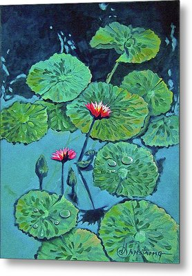 Waterlily Metal Print by Denise Armstrong