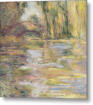 Waterlily Pond, The Bridge Metal Print