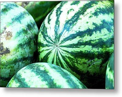 Watermelon Love Metal Print by Teri Virbickis