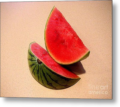 Watermelon Study Metal Print by Lucyna A M Green