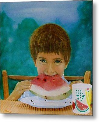 Watermelon Time Metal Print