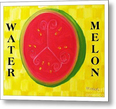 Watermelon Time Metal Print by Nathan Rodholm