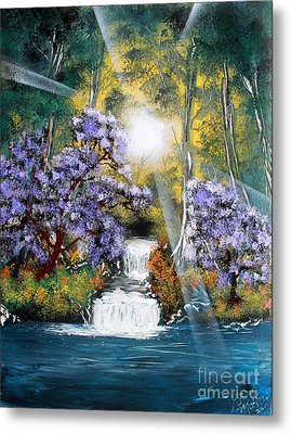 Metal Print featuring the painting Waters Edge by Greg Moores