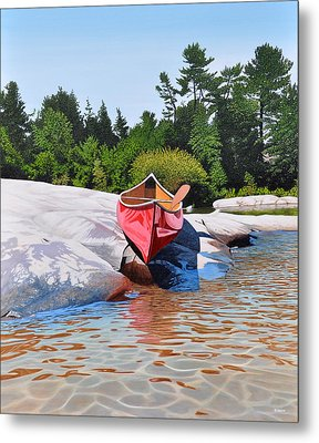 Metal Print featuring the painting Waters Edge by Kenneth M Kirsch