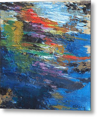 Water's Poetry  No. 4 Metal Print by Melody Cleary