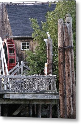 Metal Print featuring the photograph Waterwheel Office Building by Margie Avellino