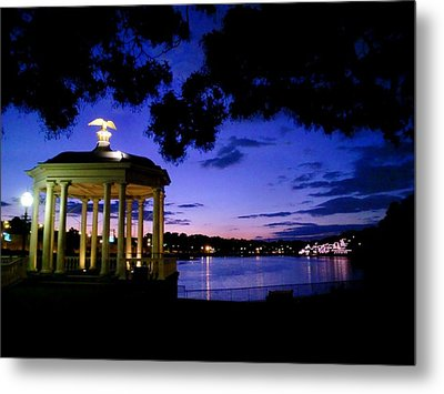 Waterworks At Night Metal Print