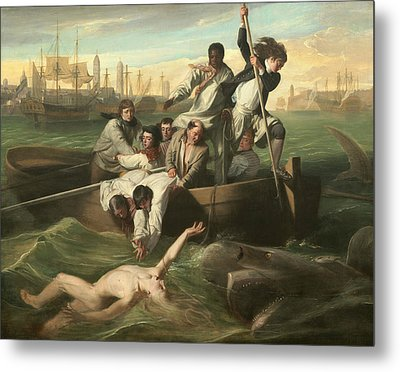 Watson And The Shark Metal Print by John Singleton Copley