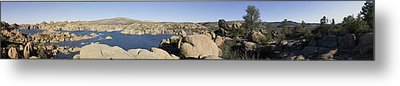 Watson Lake Metal Print by Austin Troya