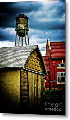 Waurika Old Buildings Metal Print