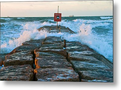 Wave Action Metal Print by John Collins