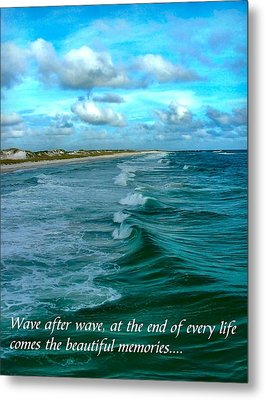 Wave After Wave Metal Print