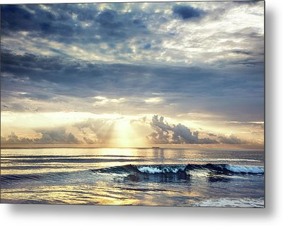 Wave At Dawn Metal Print