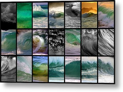 Wave Chart Metal Print by Brad Scott