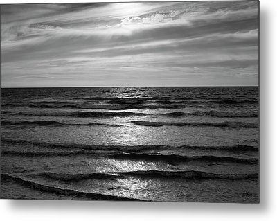 Metal Print featuring the photograph Wave Upon Wave I Bw by David Gordon