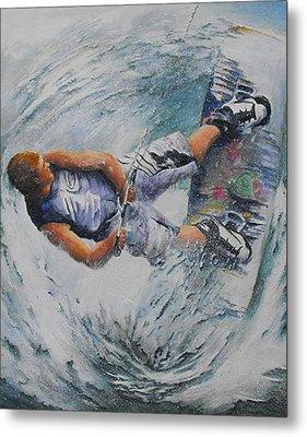 Wave Warrior Metal Print by Debra  Bannister