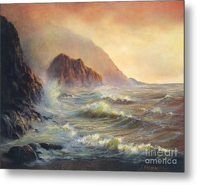 Waves After The Storm Metal Print by Jeanette French
