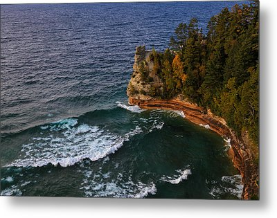 Waves At Miners Castle Metal Print