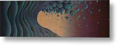 Waves Crashing Metal Print by Tim Foley