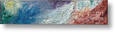 Waves Of Color Metal Print by Gallery Messina